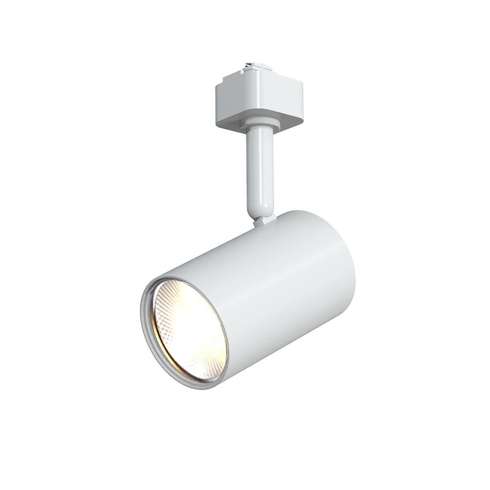 hampton bay white 1 light integrated led mini cylinder linear track lighting head new open box