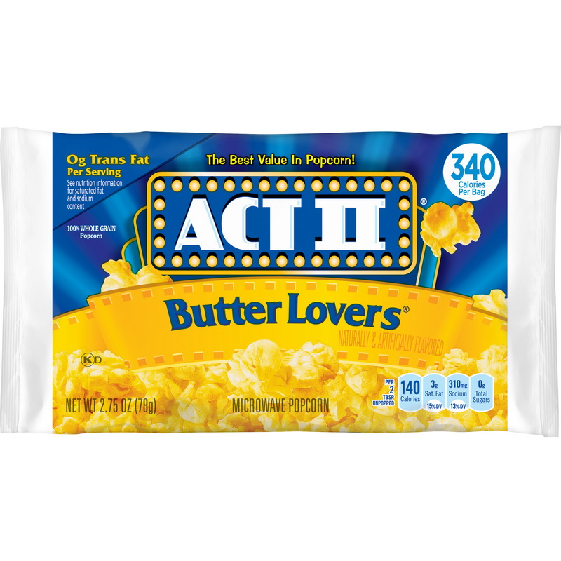 price case act ii 7615023256 act ii butter lovers microwave popcorn tray case walmart com