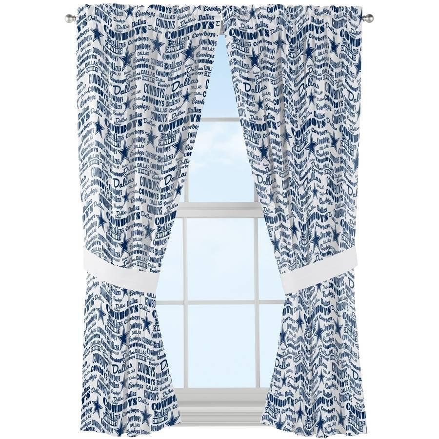 nfl dallas cowboys anthem window curtain panels 1 each walmart com
