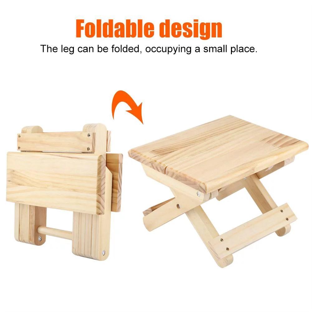 fyydes petit banc carre pliable en bois massif style rural conception ergonomique finition soignee petit banc carre en bois