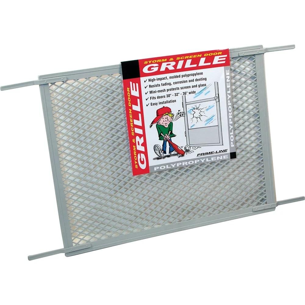 screen door grill for 30 in door gray poly walmart com