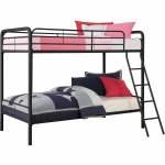 Dhp Twin Over Twin Metal Bunk Bed Multiple Colors Black Walmart Com Walmart Com