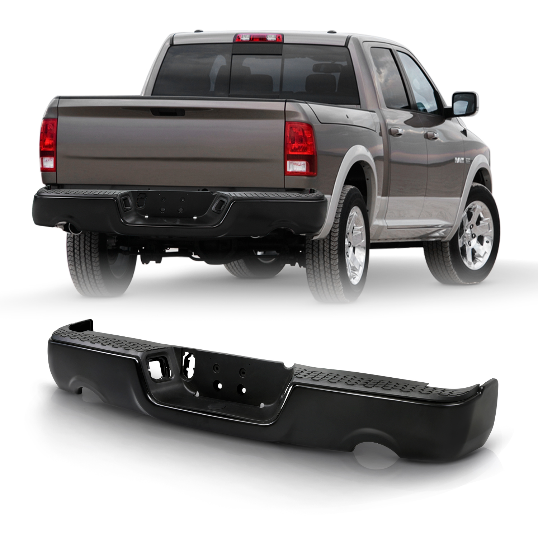 https www walmart com ip for 2009 2018 dodge ram 1500 black rear bumper w dual exhaust w o parking sensor 435145791