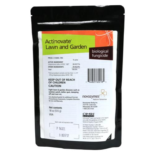 Novozymes Actinovate Organic Fungicide for Lawn and Garden 18oz 100505381