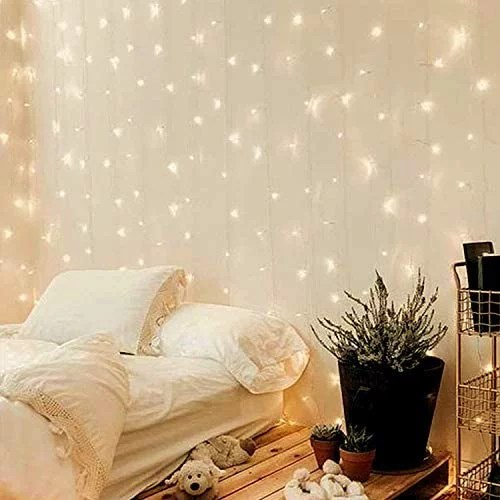 300 led curtain lights twinkle lights for bedroom wedding decorations wall decor lights for teen girls dorm room essentials for girls decor fairy
