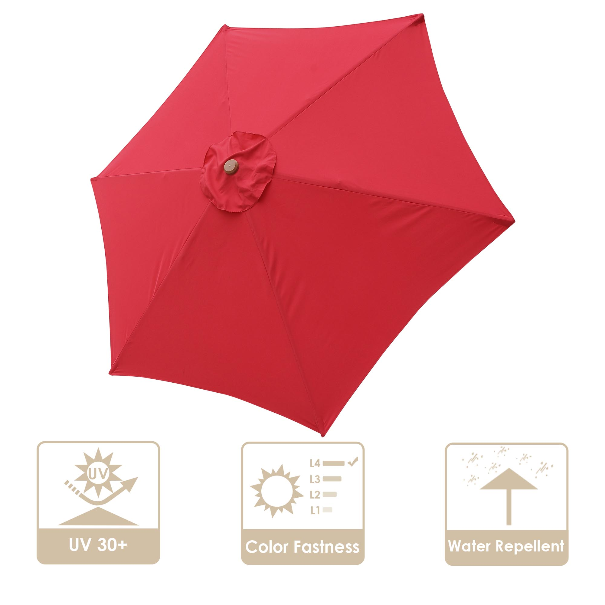 9 patio umbrella replacement canopy 6 ribs cover top outdoor yard