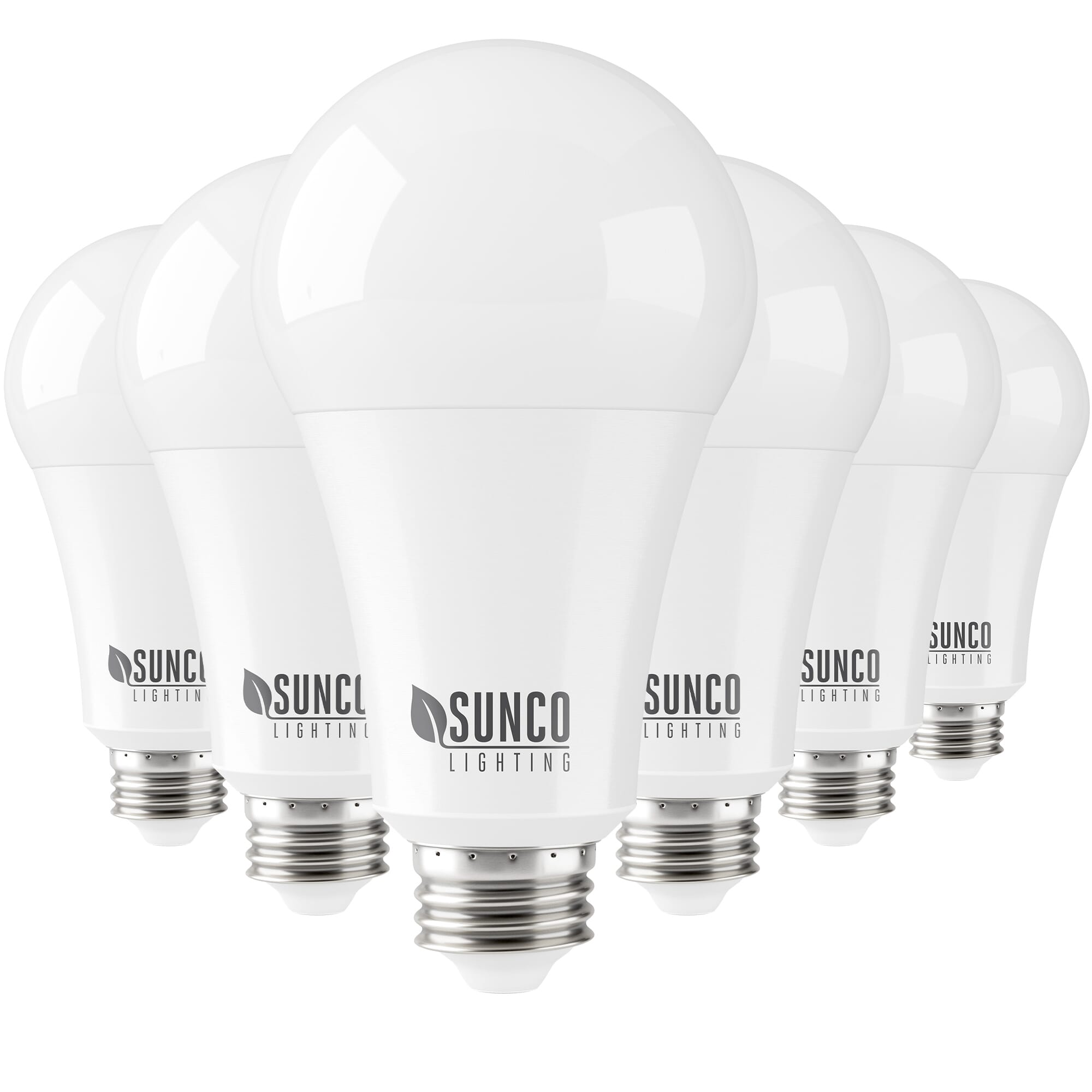 sunco lighting 6 pack a21 led bulb 22w 150w 5000k daylight 2550 lm e26 base dimmable indoor light for lamp ul energy star