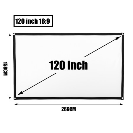 120″/100″/84″/72″/60″ 16:9 Excessive Distinction Collapsible 4K Transportable Foldable Film Guide Projector Display screen Projection HD House Movie Theater Film Cinema FOR WORLD CUP a26ebe43 61c9 4f6e bd0a 89588874bb97 1