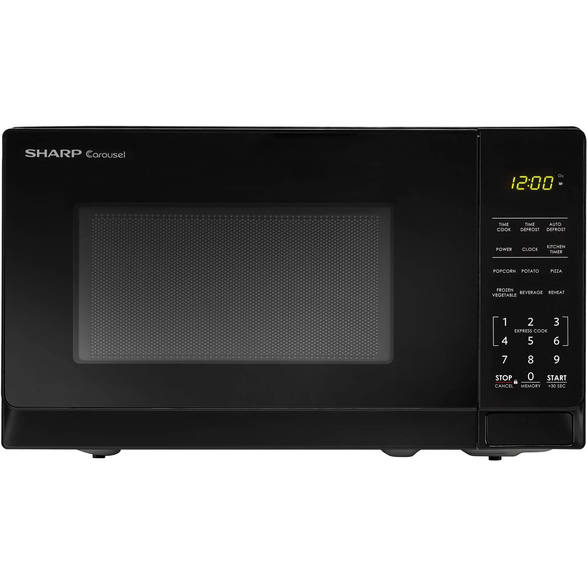 sharp zsmc0710bb 0 7 cu ft microwave black