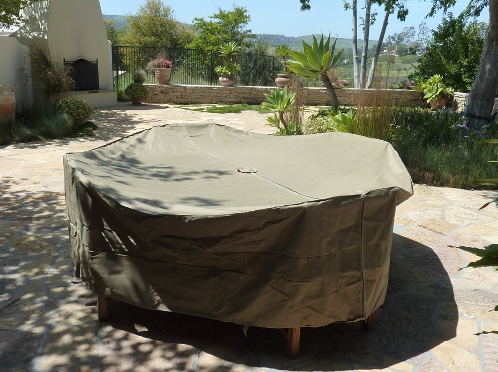 formosa covers patio set cover 104 dia fits square oval or round table set center hole for umbrella