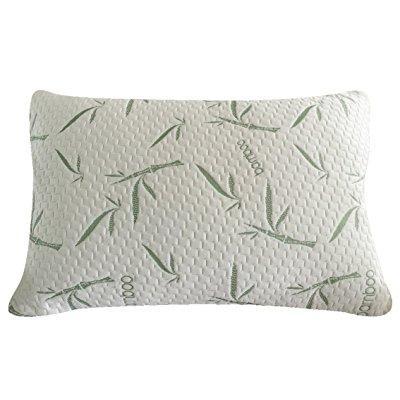 sleep whale premium shredded memory foam pillow derived from bamboo luxury design queen