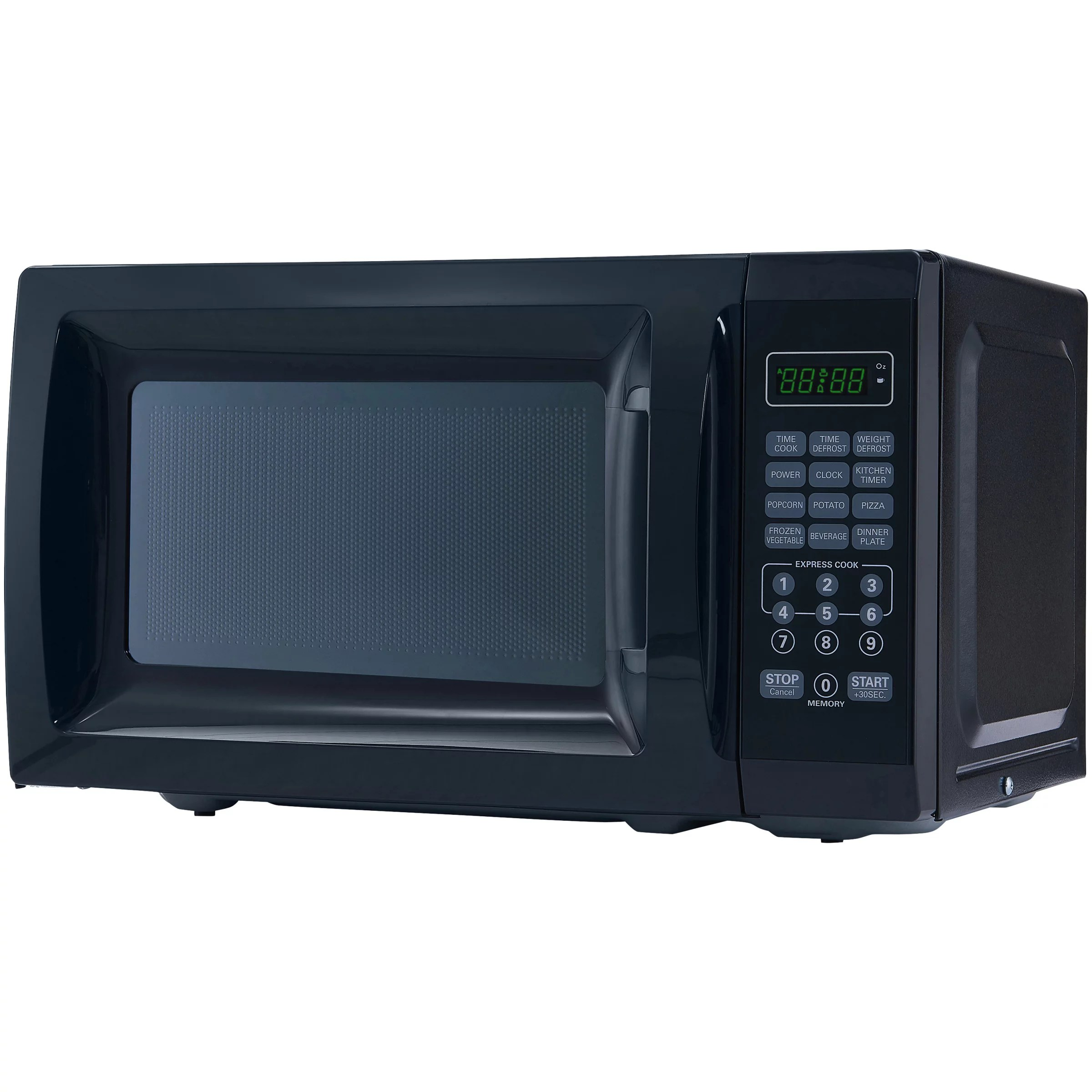 mainstays 0 7 cu ft 700w black microwave oven