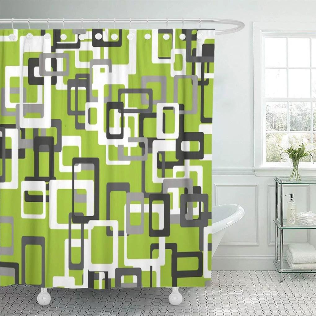 suttom modern lime green black gray white shower curtain 60x72 inch walmart com