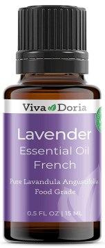 Viva Doria 100% Pure Lavender French Essential Oil, Undiluted, Food Grade, Lavender French oil, 15 mL (0.5 fl oz) - Walmart.com - Walmart.com