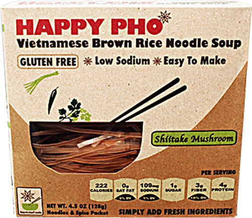 Star Anise Happy Pho Vietnamese Shiitake Mushroom Brown Rice Noodle Soup, 4.5 Oz.