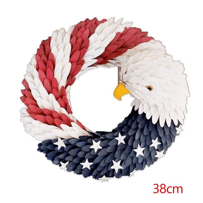 american eagle wreath durable american eagles shape wreath patriotic wreath front door decoration