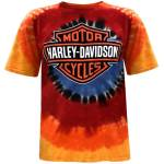 Harley Davidson Harley Davidson Men S Bar Shield Logo Tie Dye Short Sleeve Crew Neck T Shirt Harley Davidson Walmart Com Walmart Com