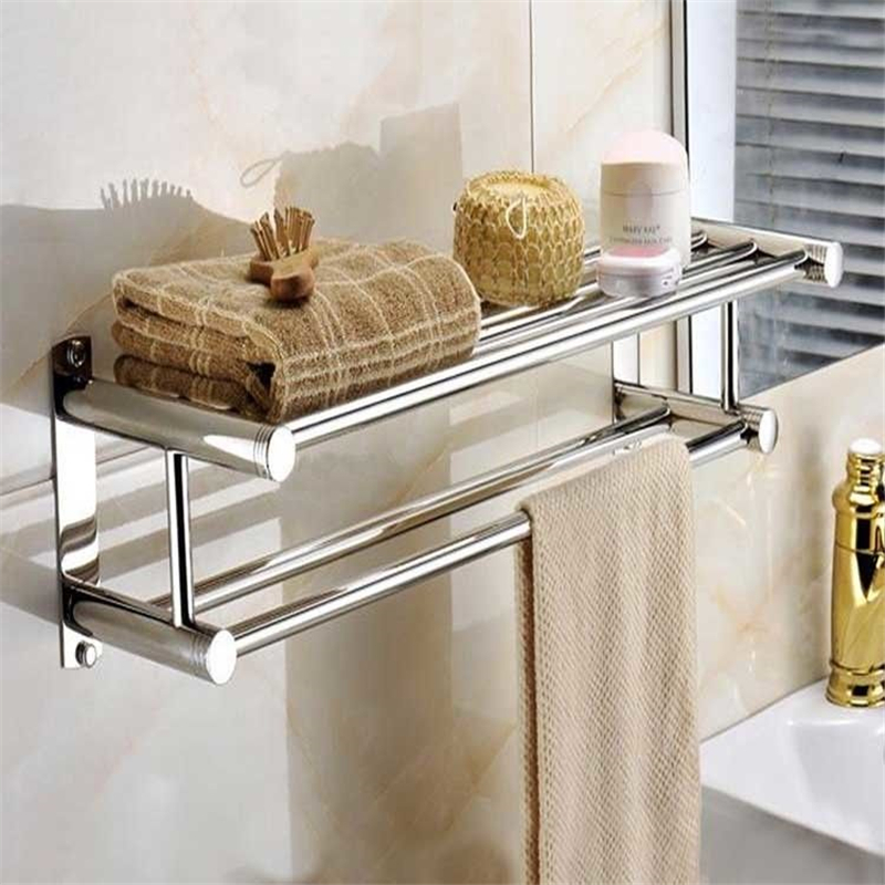 bath towel rack 304 stainless steel bathroom storage organizer shelf rustproof bathroom shelves
