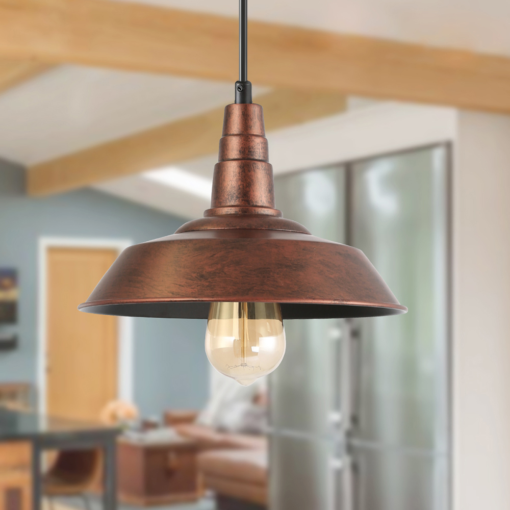lnc farmhouse pendant lighting with hand painted finish rustic hanging lamp fixture for kitchen island dining room walmart com