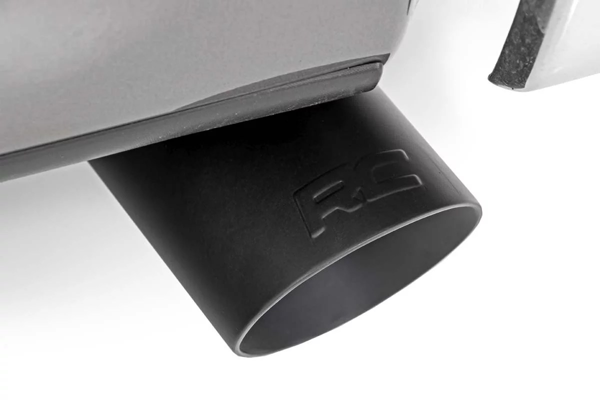 rough country black exhaust tip 304 stainless steel 2 5 3 each 96004