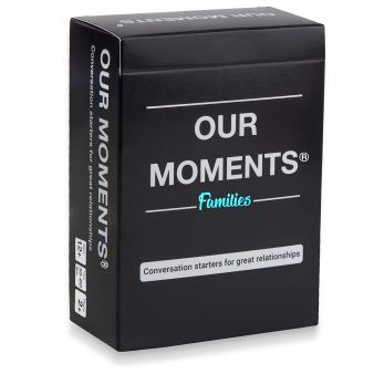 OUR MOMENTS Families: 100 Conversation Starters Questions. Parent to Child Meaningful Communication for Healthy Loving Family Development - Fun Road Trip, Dinner or Bed Time Card Game