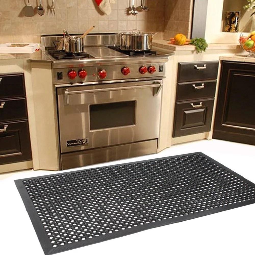 ubesgoo 59 x 35 anti fatigue mat restaurant kitchen floor mat anti fatigue bar laundry garage drainage rubber floor mat outside door mat indoor