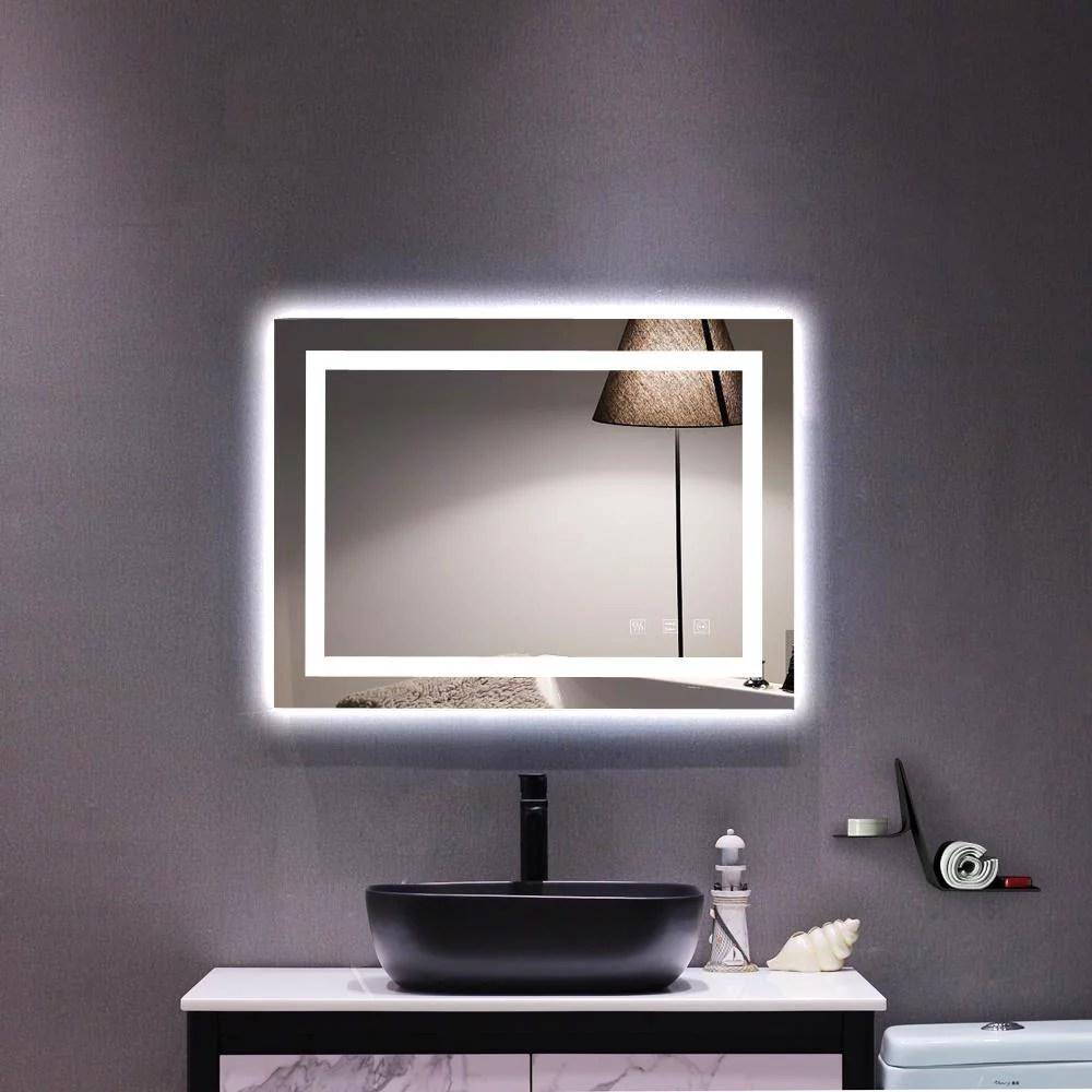 Ktaxon Home LED Lighted Rectangle Bathroom Mirror,Modern ...