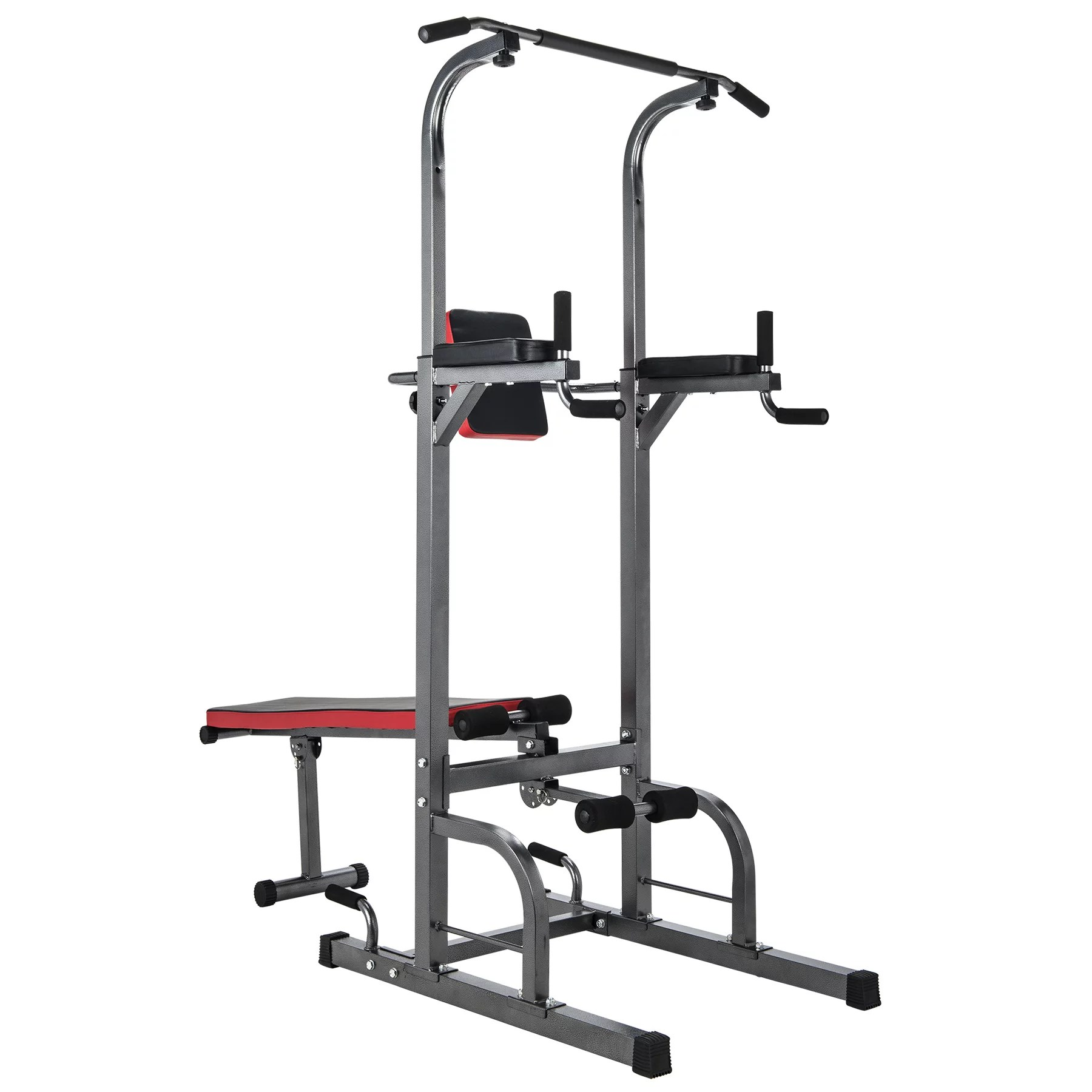 Multifunctional Pull Up Bar W Sit Up Bench For Indoor