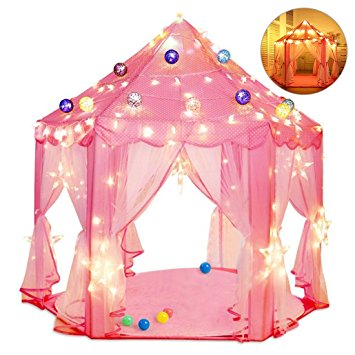 kids indoor princess castle play tents pink princess tent children game play toys tent girls playhouse outdoor girls large playhouse
