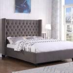Best Master Furniture Holland Grey Tufted Wingback Platform Bed Cal King Walmart Com Walmart Com