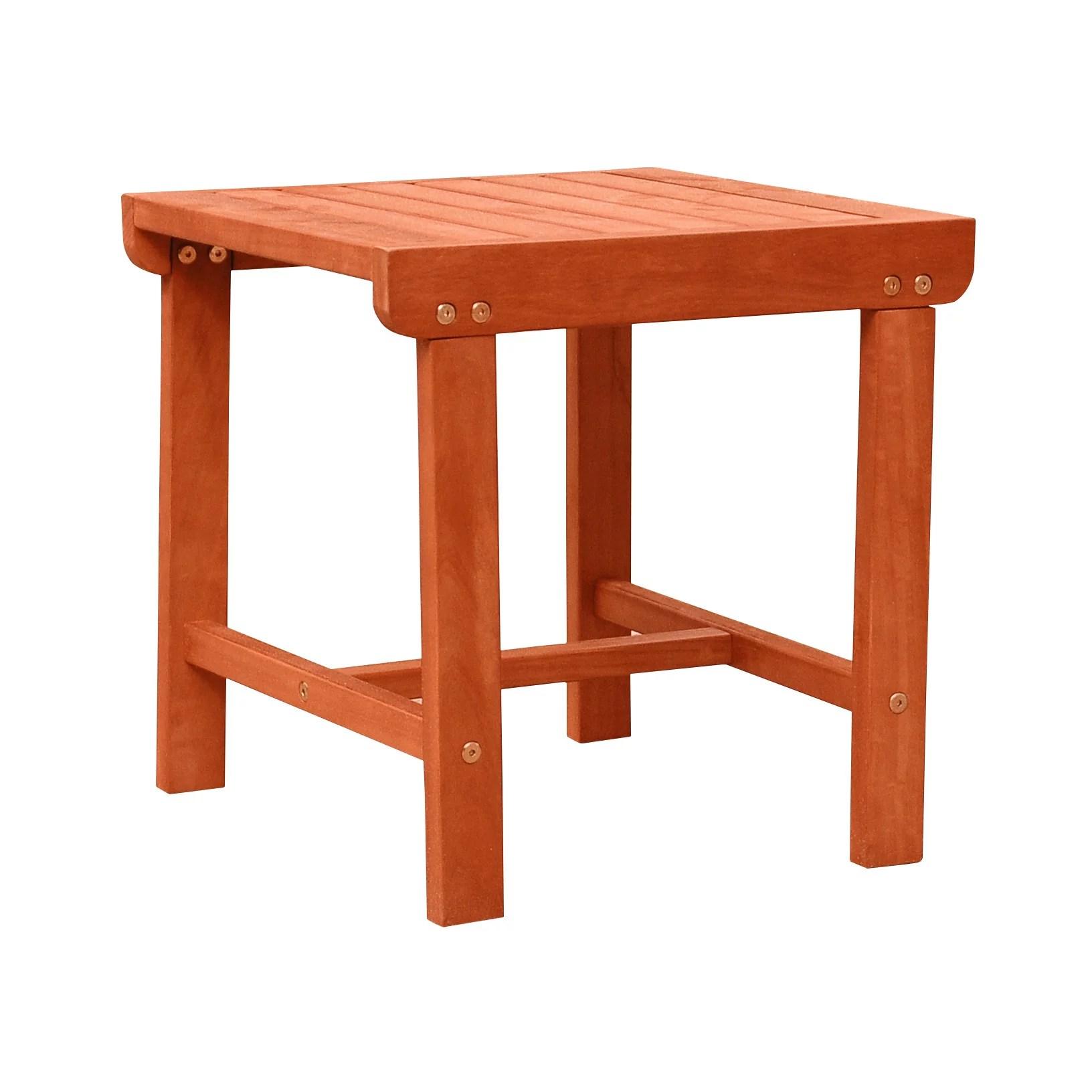malibu outdoor patio wood side table walmart com