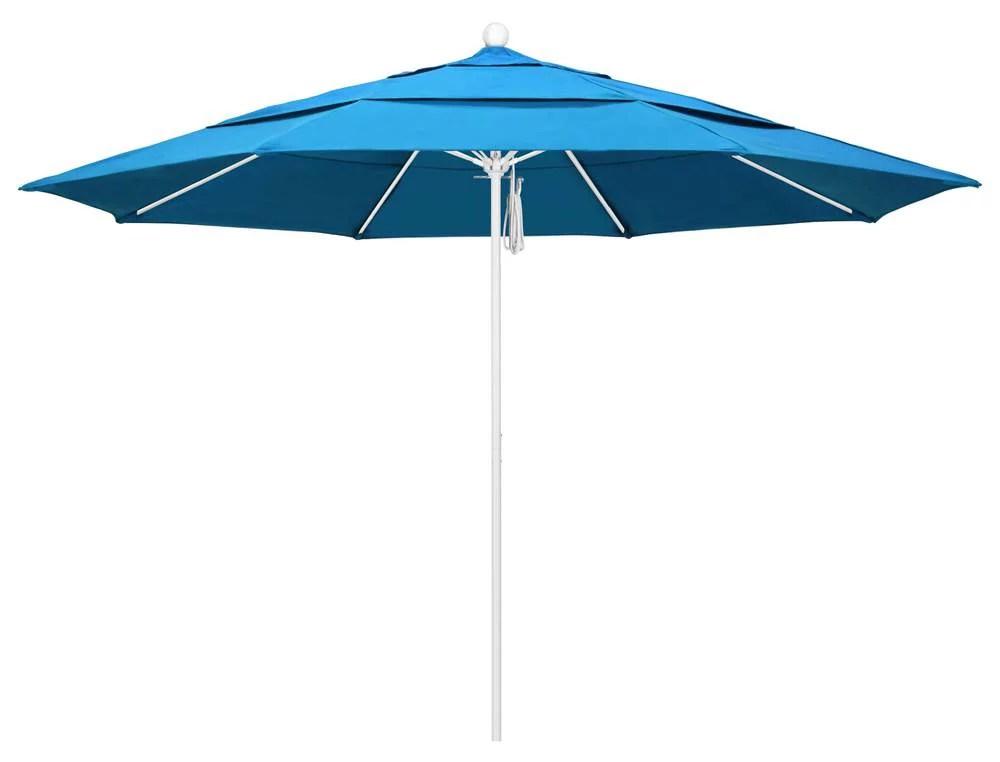 11 ft patio umbrella in canvas cyan fabric