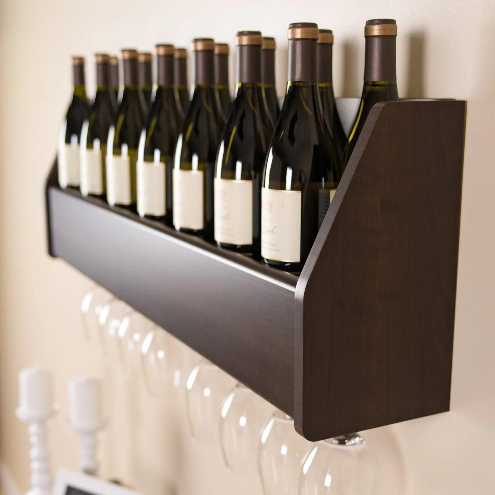 floating 18 bottle wine rack