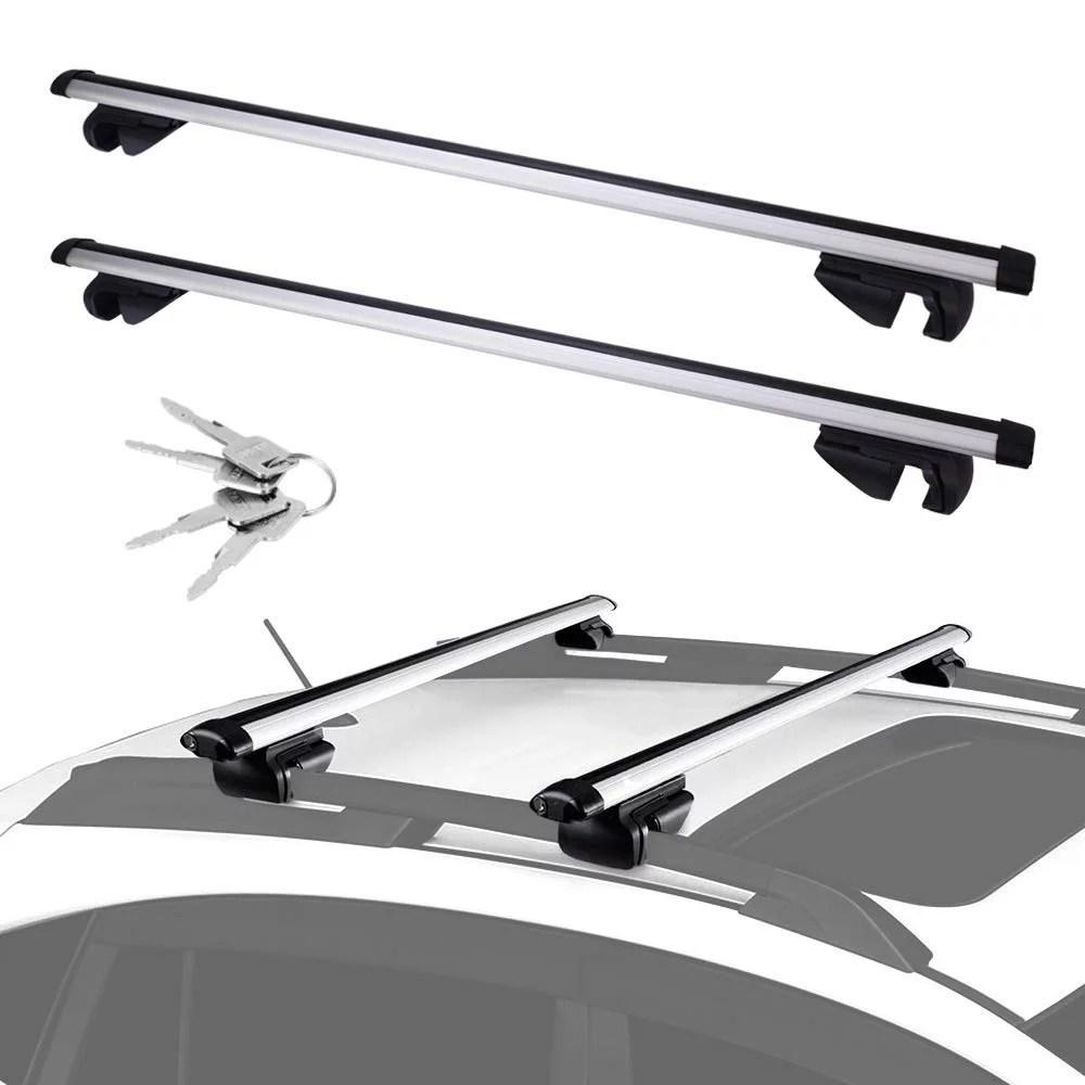adjustable aluminum 48 cross bar roof rack cargo for carrier canoe kayak rack fits maximum 43 5 car roof width for car vehicles suvs with side rails