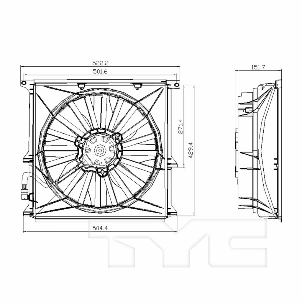 For Bmw 318i 318is 318ti Condenser A C Cooling Fan