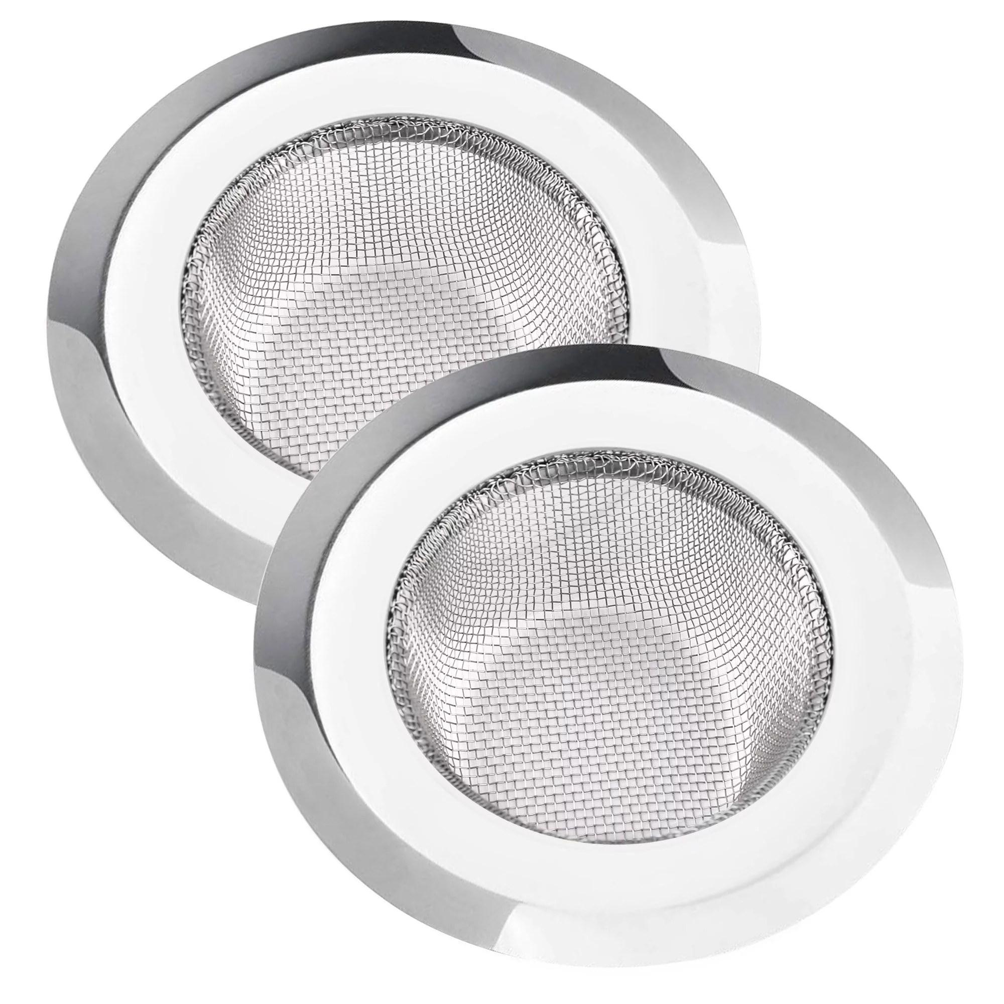 lotfancy 2 kitchen sink strainer 4 5 in stainless steel drain strainer silver