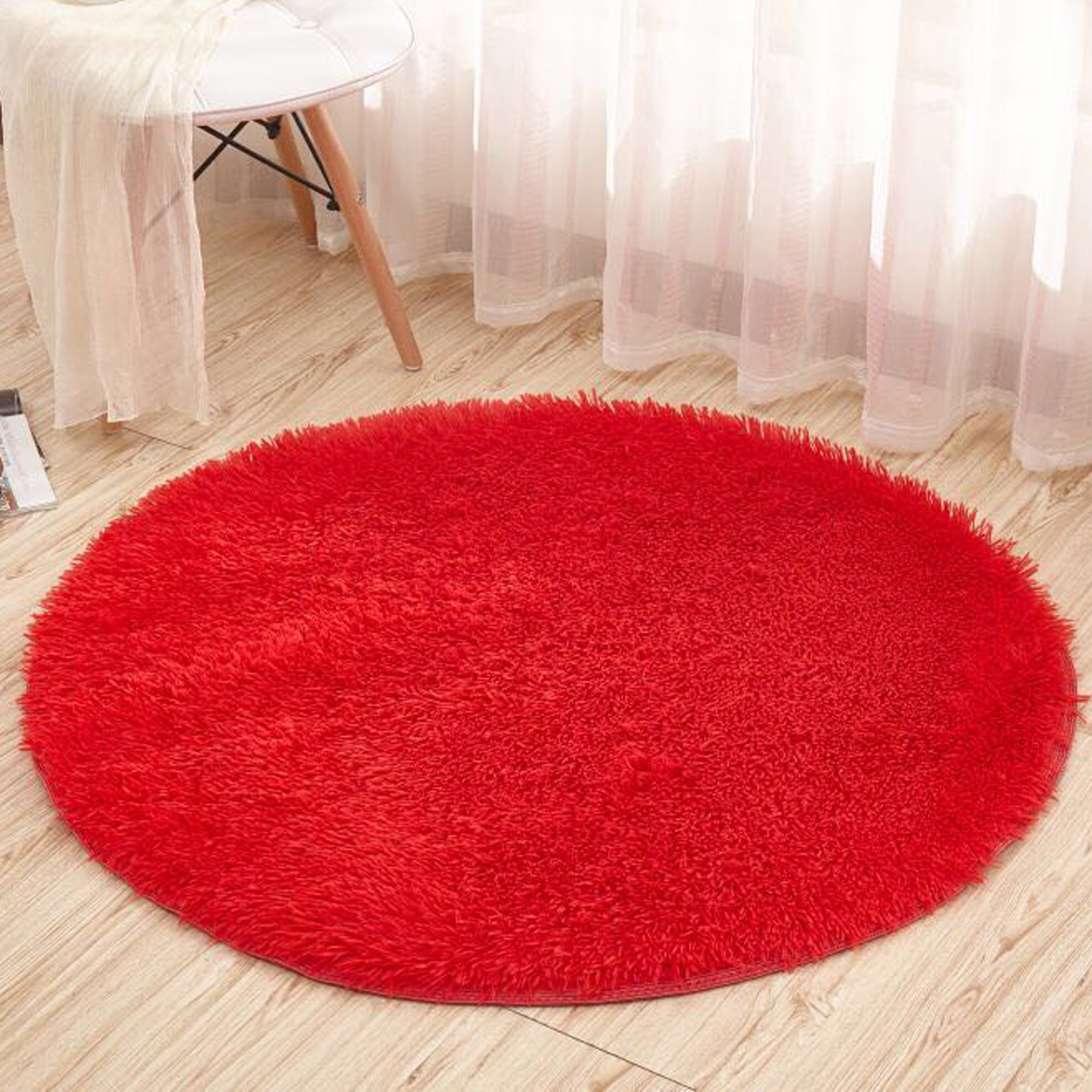 Dodoing Super Soft Round Area Rugs For Bedroom Kids Rooms Living Room Playroom Fluffy Boys Girls Baby Kids Children Rugs For Bedroom Home Nursery D Cor Carpet For Women Pink Red Blue White