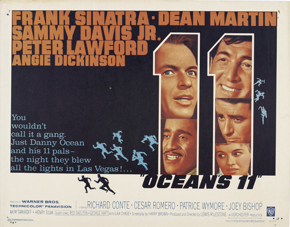 oceans 11 movie poster style e 11 x 14 1960