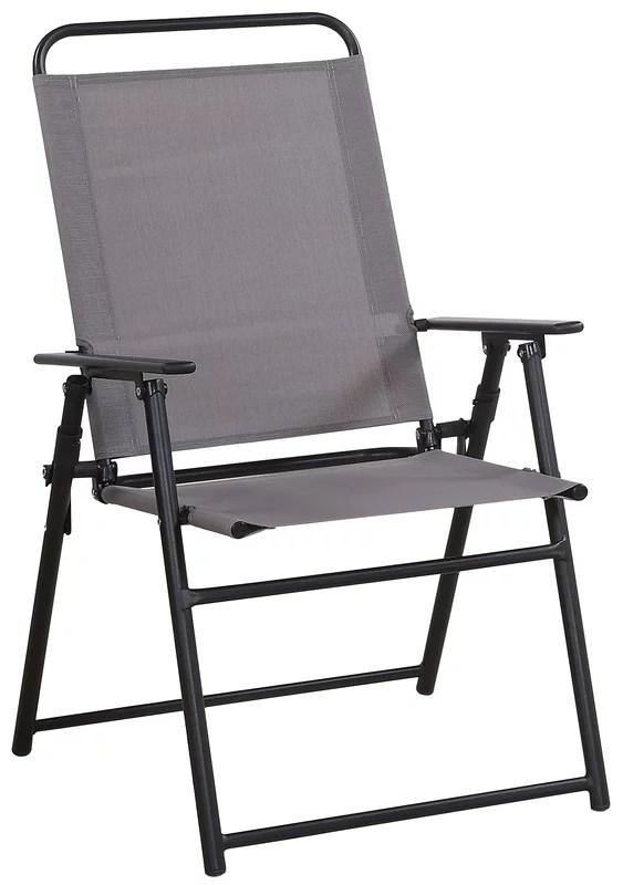 living accents black steel sling chair walmart com