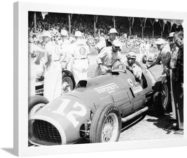 Alberto Ascari At The Wheel Of A   Litre Ferrari Indianapolis  Framed Print Wall Art Walmart Com