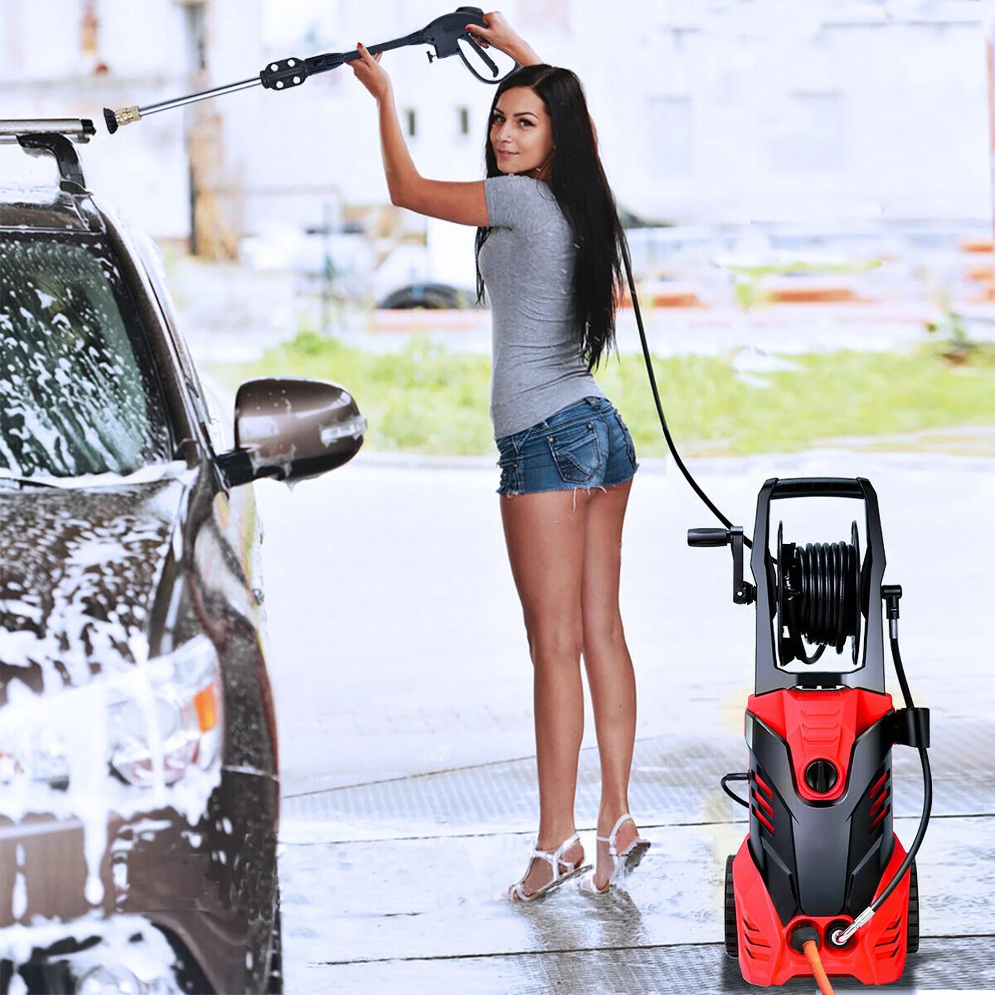 3000psi electric high pressure washer machine 2 gpm 2000w w deck patio cleaner