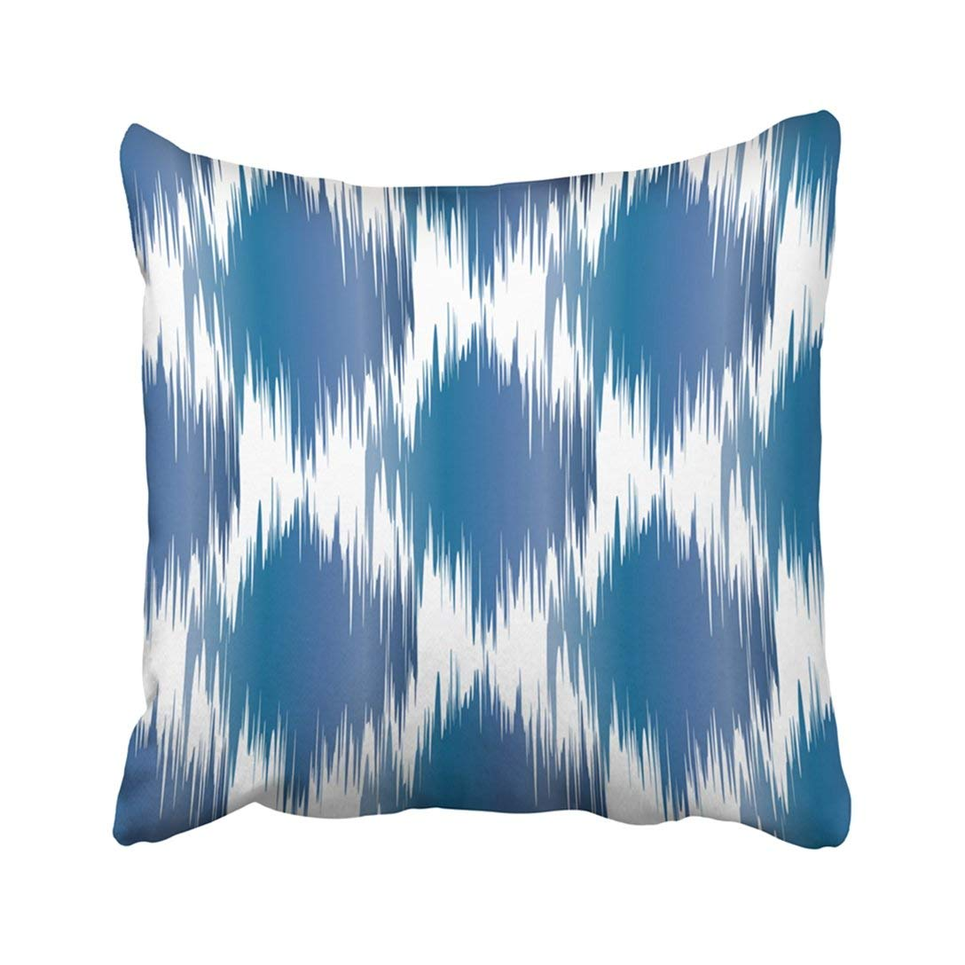 Bosdeco Blue Watercolor Ikat Pattern Geometric Abstract Colorful Beautiful Bohemian Boho Pillowcase Throw Pillow Cover Case 18x18 Inches Walmart Canada
