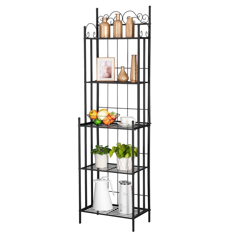 metal bakers racks for kitchens 5 tier microwave storage rack storage organizer workstation multi use kitchen baker s rack utility storage shelf