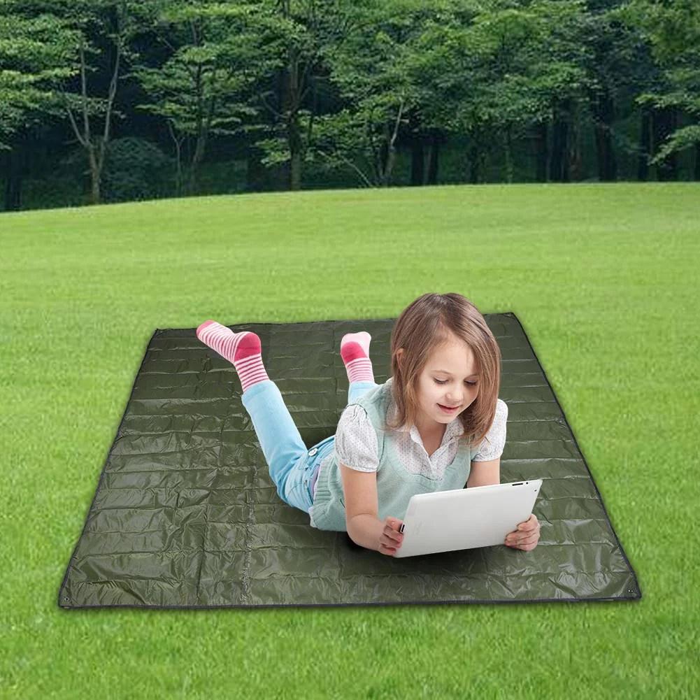 sonew tapis de sol impermeable portatif exterieur de tapis de plancher pour le pique nique de camping tapis de camping tapis de tente