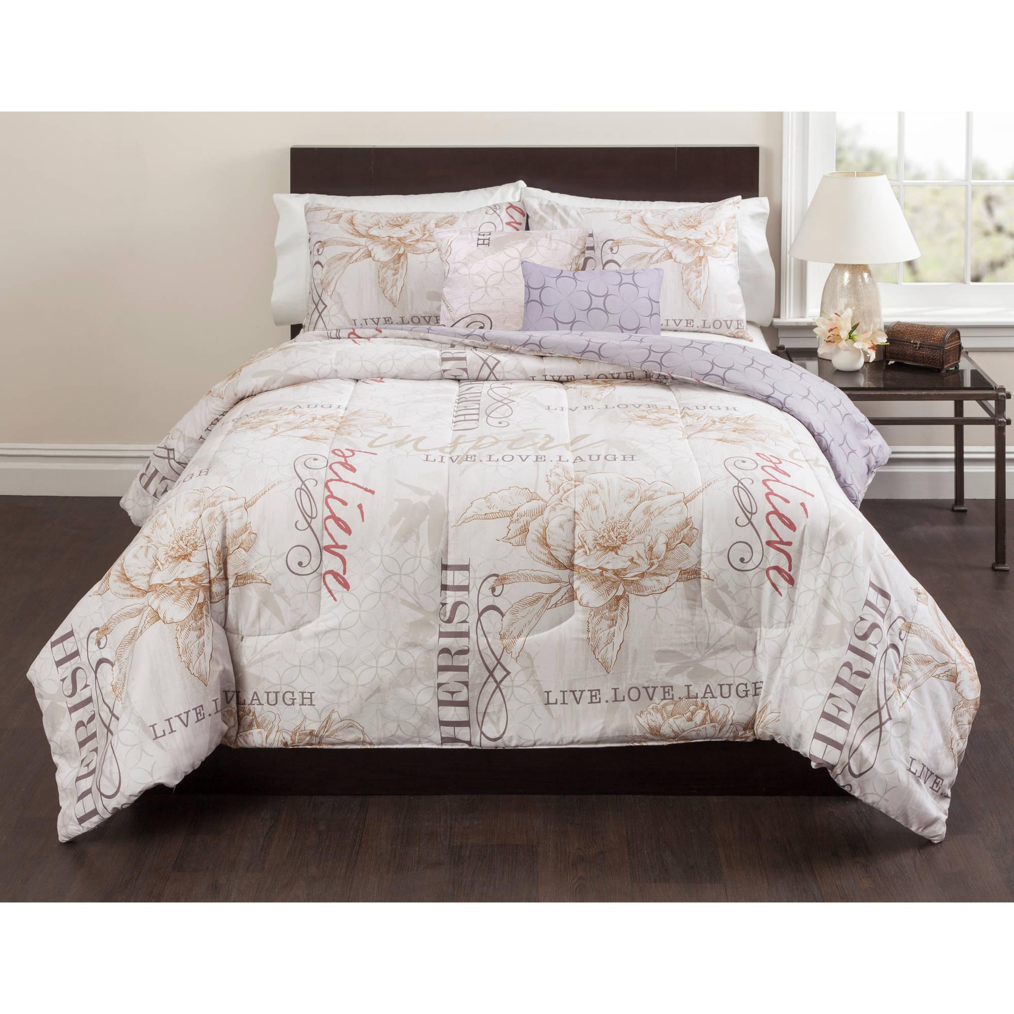 Casa Live Laugh Love 5 Piece Bedding Comforter Set