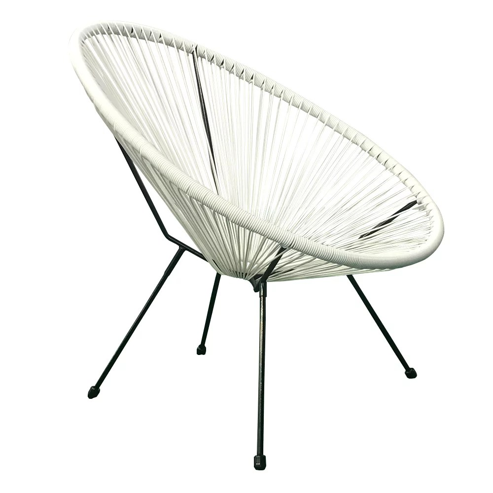 e joy acapulco chair indoor outdoor lounge chair weave patio chair all weather outdoor patio egg chair white 2 units