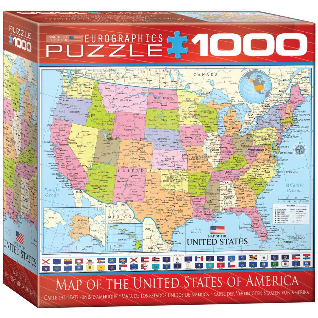 Map Of The United States Of America Piece Puzzle