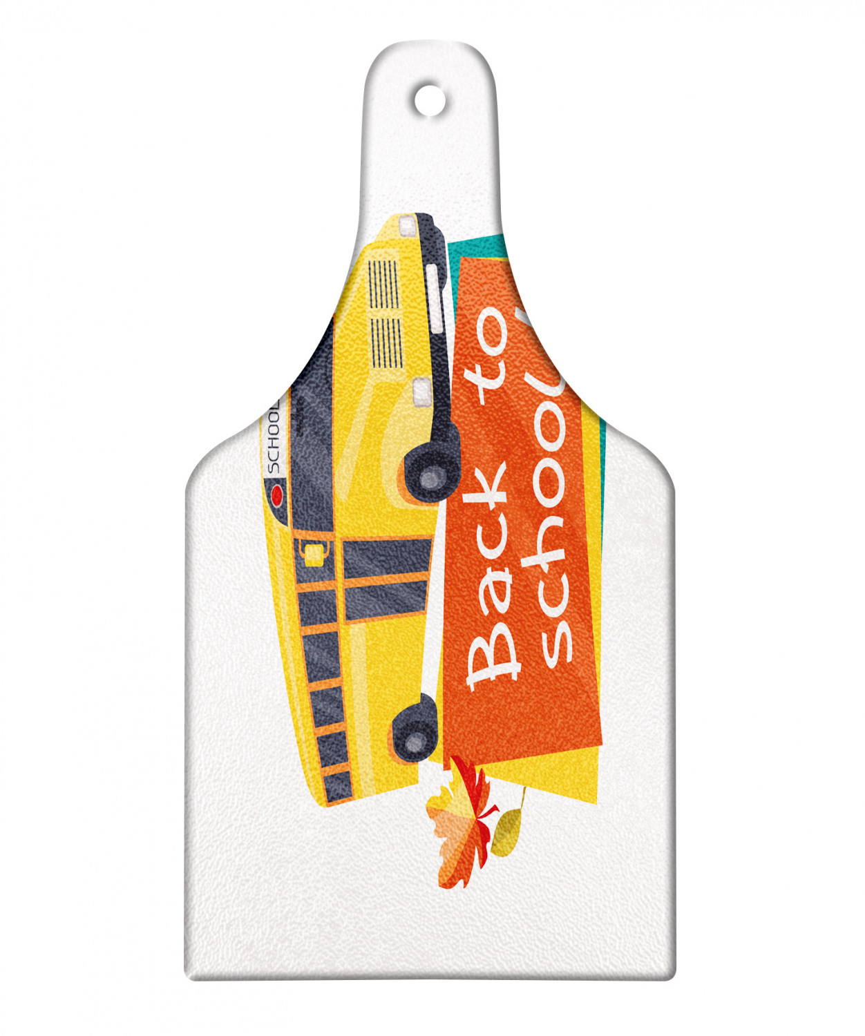 School Bus Cutting Board Back To School Theme Autumn Time