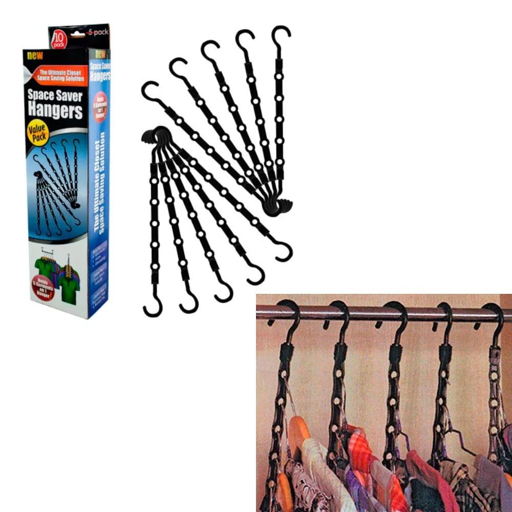 AllTopBargains 10 Pc Space Saver Hangers Closet Organizer ... on Closet Space Savers Walmart  id=97846
