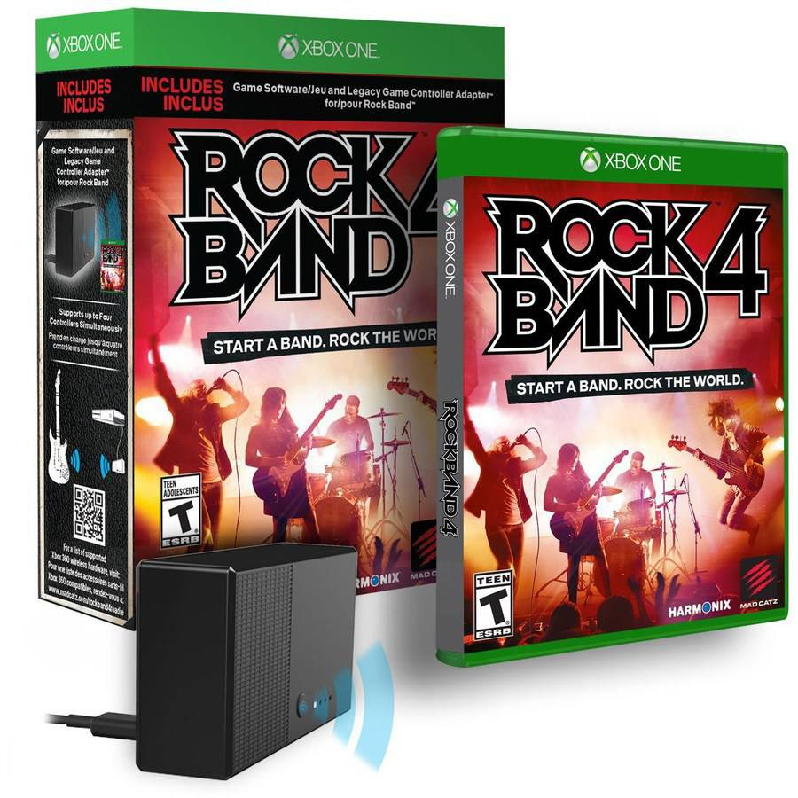 Rock Band 4 With Legacy Controller Adapter Xbox One